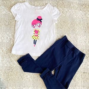 💓4/$25💓 12-18 M Top & Legging Bundle